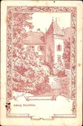 Passepartout Künstler Ak Grüner, Störnstein Oberpfalz, Zeichnung vom Schloss