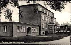 Postcard Bramsche in Niedersachsen, Fach und Berufsschule