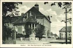 Postcard Staßfurt im Salzlandkreis, Real Gymnasium an der Kali Straße