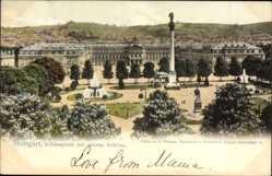Postcard Stuttgart in Baden Württemberg, Schlossplatz mit neuem Schloss