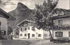 Postcard Oberammergau in Oberbayern, Dorfpartie mit Kofel