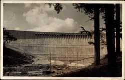 Postcard Forbach, Schwarzenbach Talsperre, Wall, Mauer, Murgwerk