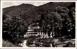 Postcard Sulzbach Lautenbach Schwarzwald, Blick auf das Kurhaus, Waldhang, Berge