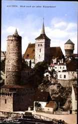 Postcard Bautzen in Sachsen, Blick nach der alten Wasserkunst, Turm