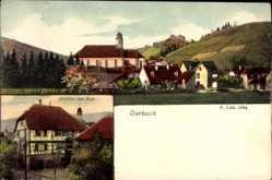 Postcard Durbach Baden Württemberg, Gasthaus zum Ritter, Kirche