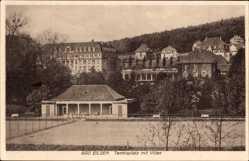 Postcard Bad Eilsen im Kreis Schaumburg, Tennisplatz, Villen, Wald