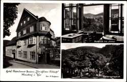 Postcard Manebach Ilmenau, Hotel zur schönen Aussicht, Inh. K. Walther