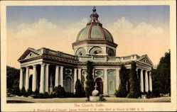 Postcard Delhi Indien, The Church, Blick von außen auf die Kirche