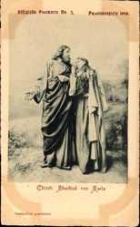 Ak Oberammergau, Passionsspiele 1900, Christi Abschied von Maria