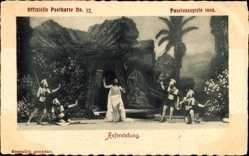 Ak Oberammergau, Passionsspiele 1900, Auferstehung, Christus