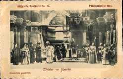 Ak Oberammergau, Passionsspiele 1900, Christus vor Herodes