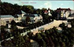 Postcard Cannstatt Stuttgart in Baden Württemberg, Straßenbahn passiert den Kursaal