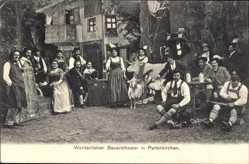 Postcard Garmisch Partenkirchen in Oberbayern, Werdenfelser Bauerntheater