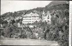 Postcard Garmisch Partenkirchen in Oberbayern, Famileinhotel, Haus Gibson