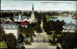 Postcard Kesselstadt Hanau im Main Kinzig Kreis Hessen, Stadtansicht vom Schloß