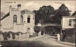 Postcard Schwerin in Mecklenburg Vorpommern, Partie am Greenhouse, Brücke