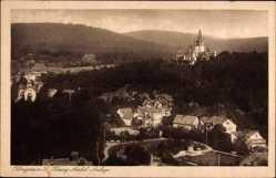 Postcard Königstein im Taunus Hessen, Herzog Adolph Anlage, Schloss, Stadtansicht