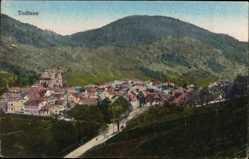 Postcard Todtnau im Südschwarzwald Kreis Lörrach, Stadtpanorama, Waldhang