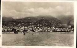 Postcard Insel Madeira Portugal, Blick vom Wasser auf die Stadt