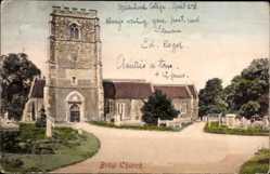 Postcard Bray Irland, Church, Ansicht der Kirche, Glockenturm