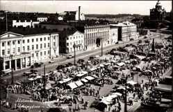 Postcard Helsinki Helsingfors Südfinnland, Kauppatori, Salutorget, Marktplatz