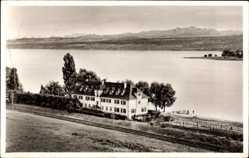Postcard Markelfingen Radolfzell am Bodensee, Das Naturfreundehaus mit Umgebung