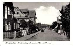 Postcard Insel Amrum in Nordfriesland, Blick in die Strand Straße