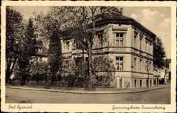 Postcard Bad Pyrmont in Niedersachsen, Genesungsheim Braunschweig