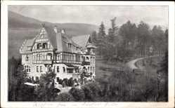 Postcard Bad Pyrmont in Niedersachsen, Villa Waldburg mit Umgebung