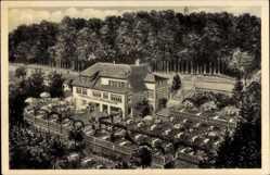 Postcard Bad Pyrmont in Niedersachsen, Terrassen Café Königin Luise, C. Wessel