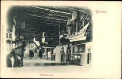 Postcard Hansestadt Bremen, Blick in den Rathaussaal, Wendeltreppe