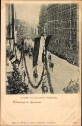 Postcard Hannover in Niedersachsen, Heimkehr vom Paradefeld, Deisterstraße, Kaisertage