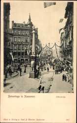 Postcard Hannover in Niedersachsen, Kaisertage, Osterstraße, Denkmal