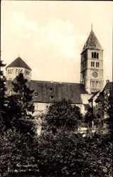 Postcard Schweinfurt in Unterfranken Bayern, Seitenansicht von der Heilig Geist Kirche