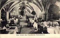 Postcard Frankfurt am Main, das Innere des Frankfurter Ratskellers