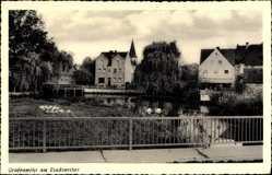 Postcard Grafenwöhr im Oberpfälzer Hügelland Bayern, Partie am Stadtweiher