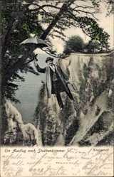 Postcard Stubbenkammer Sassnitz auf der Insel Rügen, Königstuhl, fliegender Mann