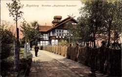 Postcard Magdeburg in Sachsen Anhalt, Bootshaus Magdeburger Ruderklub