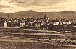 Postcard Lage im Werratal im Kreis Lippe, Panoramaansicht, Ort, Kirchturm