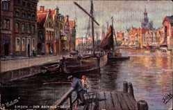 Künstler Ak Siehl, Emden in Ostfriesland, Der Rathaus Delft, Tuck 7043