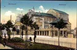 Postcard Dortmund im Ruhrgebiet, Blick zum Stadttheater, Seitenansicht