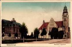 Postcard Wittenberge in der Prignitz, Ansicht vom Rathaus Lyceum