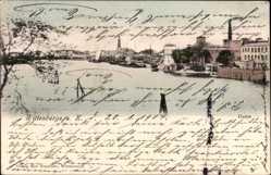 Postcard Wittenberge in der Prignitz, Ansicht vom Hafen