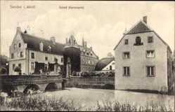 Postcard Senden in Westfalen, Blick auf das Schloss mit Gartenseite