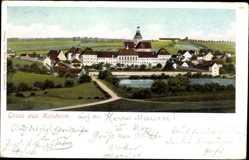 Postcard Kaisheim im schwäbischen Kreis Donau Ries, Gesamtansicht, Turm
