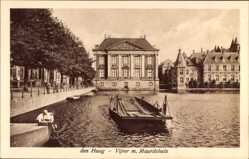 Postcard 's Gravenhage Den Haag Südholland, Vijver m. Mauritshuis