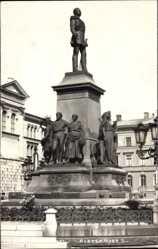Foto Ak Helsinki Helsingfors Südfinnland, Aleksander II, Denkmal