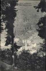 Postcard Bad Wildbad im Kreis Calw Baden Württemberg, Blick vom Panoramaweg