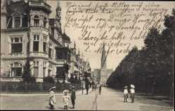 Postcard Hannover in Niedersachsen, Hohenzollernstraße mit Markuskirche