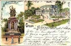 Litho Hannover in Niedersachsen, Neues Haus, Kriegerdenkmal